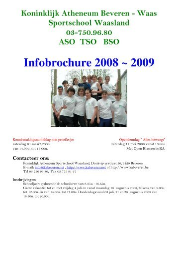 brochure 2008-2009 - Koninklijk Atheneum Beveren-Waas
