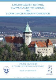 Cancer Research Institute, Slovak Academy of Sciences