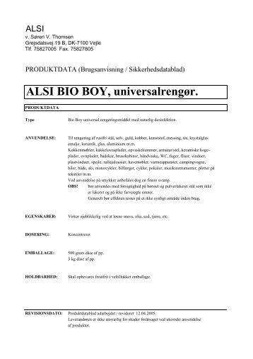 BioBoy - Velkommen til Alsi