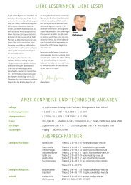 Preisliste Magazin Wunderbar - Wunderbar Magazin