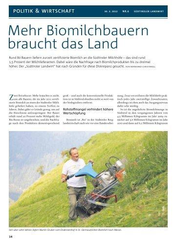 Mehr Biomilchbauern braucht das Land