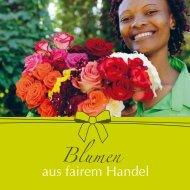 Broschüre Blumen aus fairem Handel - EINE-WELT-FORUMS Mannheim