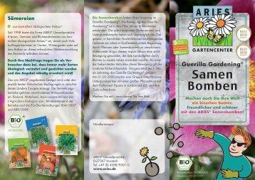 Bausatz Samenbomben - Aries Umweltprodukte