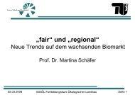 """""""fair"""" und """"regional"""" - (BUND) Sachsen"""