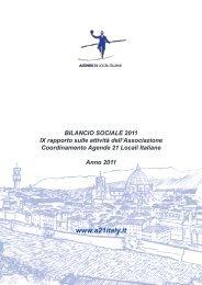 Bilancio sociale 2011 - Coordinamento Agende 21 Locali Italiane