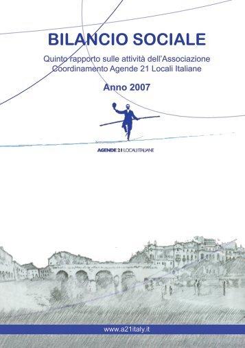 Bilancio sociale 2007 - Coordinamento Agende 21 Locali Italiane