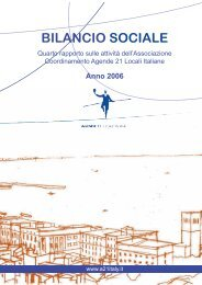 Bilancio sociale 2006 - Coordinamento Agende 21 Locali Italiane