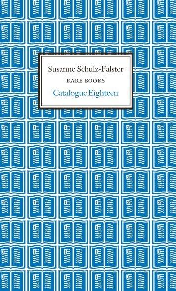 Susanne Schulz-Falster Catalogue Eighteen - International League ...
