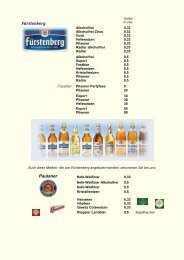 Produktliste Biere