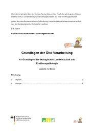 Grundlagen der Öko-Verarbeitung - Oekolandbau.de