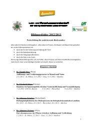 Bildungsfolder 2012/2013... - Demeter
