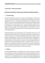 Betriebswirtschaftliche Analyse der biologischen ... - Boku