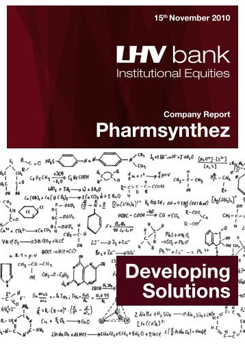 Pharmsynthez Developing Solutions