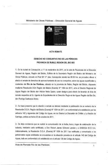 Ministerio de Obras Públicas — Dirección General de Aguas