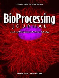 BioProcessing Trends and Developments in BioProcess ... - Validated