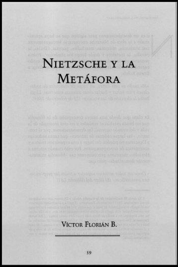NIETZSCHE Y LA METÁFORA - Konrad Lorenz