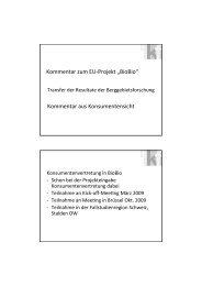"Kommentar zum EU-‐Projekt ""BioBio"" Kommentar aus ..."