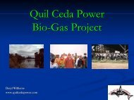 Quil Ceda Power BioBio-Gas Project - EERE