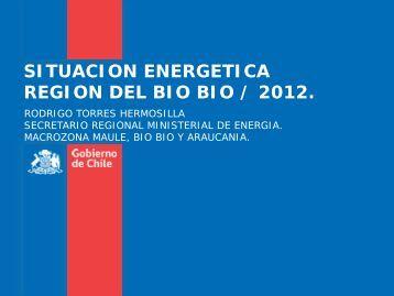 SITUACION ENERGETICA REGION DEL BIO BIO / 2012. - ECPA