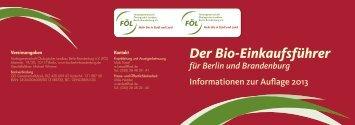 Der Bio-Einkaufsführer für Berlin und Brandenburg