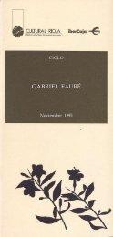 GABRIEL FAURÉ - Fundación Juan March