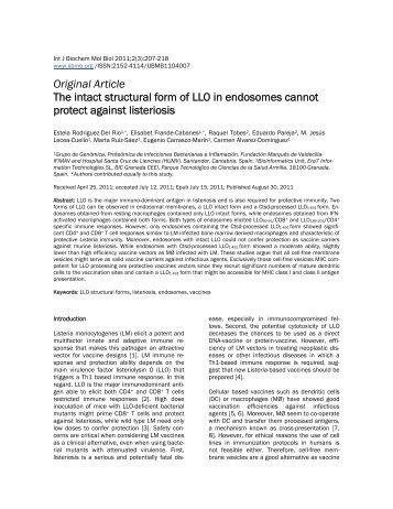 Original Article - International Journal of Biochemistry and Molecular ...