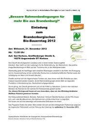 Anmeldung zum Bio-Bauerntag Per Telefon/Fax