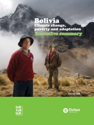 Bolivia: Climate change, poverty and adaptation - Oxfam International