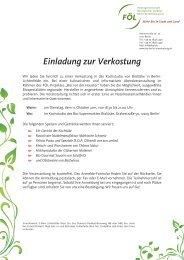 Einladung zur Verkostung - Fördergemeinschaft Ökologischer ...