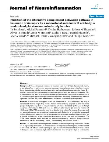 Inhibition of the alternative complement activation pathway in ...