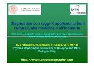 Diagnostica con raggi-X applicata ai beni culturali ... - INFN Bologna