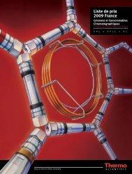 Liste de prix 2009 France - Thermo Scientific Home Page