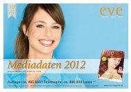 Mediadaten 2012 - eve« – ernährung vitalität erleben