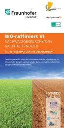 Programm - BIO-raffiniert VI - Plasticker