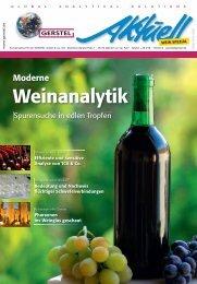 GERSTEL Aktuell Wein Spezial - Gerstel GmbH & Co.KG