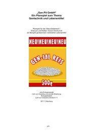 """""""Gen-Fit GmbH"""" Ein Planspiel zum Thema Gentechnik - HannoverGEN"""