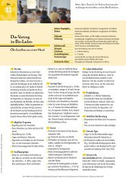 Dia-Vortrag im Bio-Laden - Oekolandbau.de
