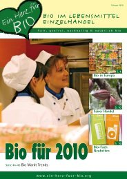Bio, Regional, Sozial & Fair - Ein Herz für Bio