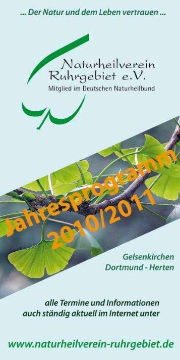 live–vorträge - Naturheilverein Ruhrgebiet eV