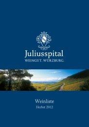 Weinliste als PDF - Juliusspital