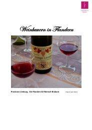 Wein aus Flandern - Tourismus Flandern-Brüssel