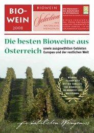 Die besten Bioweine aus - BIOWEIN Selection