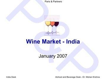 Wine Market - India - Parisandpartners.com
