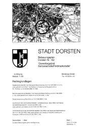 Überplanter rechtsverbindlicher Bebauungsplan ... - Stadt Dorsten