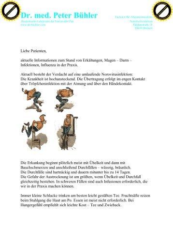 Dr. med. Peter Bühler - Praxis Dr.  Bühler