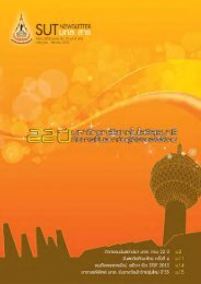 SUT Newsletter - มหาวิทยาลัยเทคโนโลยีสุรนารี