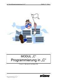"""Programmierung in """"C"""" - Humerboard"""