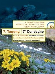 7. Tagung 7°Convegno - Dr. Carl Institut