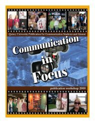 Communication in Focus Spring 2008 - Quincy University