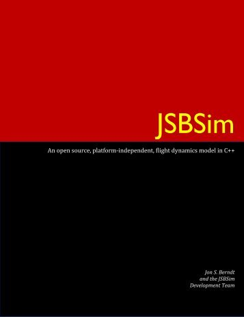 JSBSim Reference Manual - JSBSim Flight Dynamics Model ...